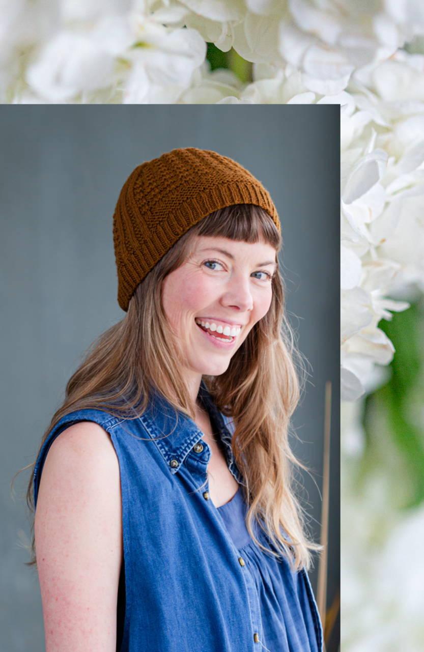 Image of Alyssa modeling Gault hat
