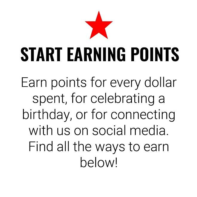 Earn Points For Every Dollar Spent