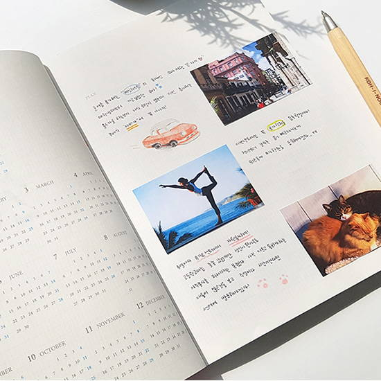 Opens flat - O-CHECK 2020 Simple and basic A5 dated weekly planner