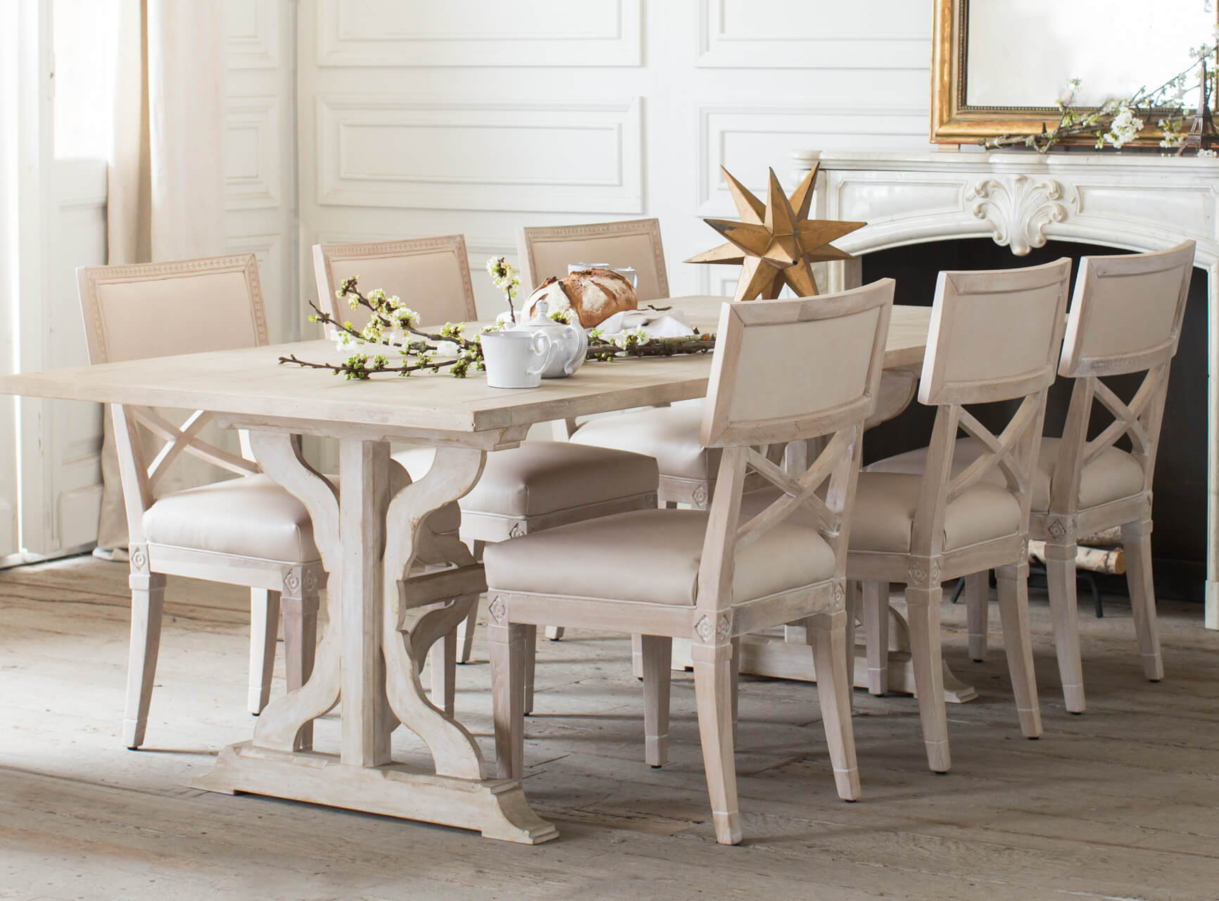 Eloquence® Thoreau Dining Table in Danish White Finish