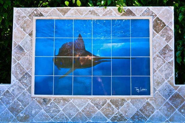 ceramic tile photo mural custom mosaic - tony h20
