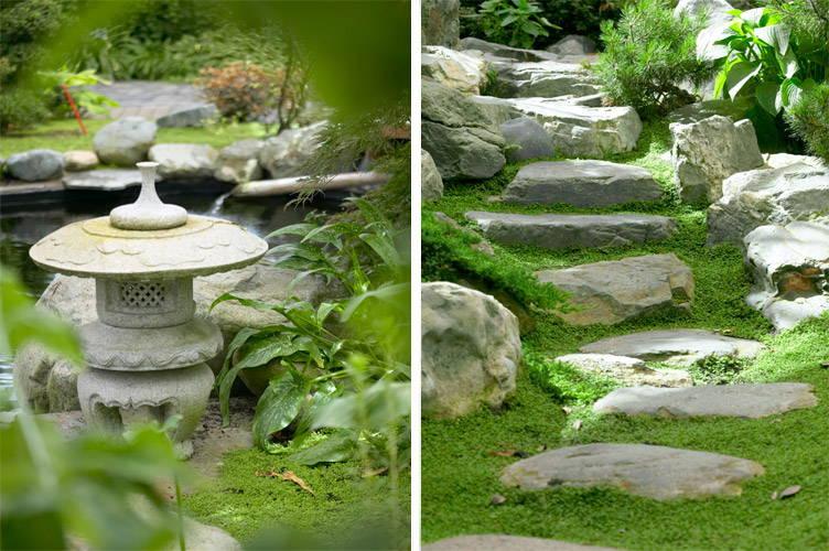 Japanse tuin en stenen