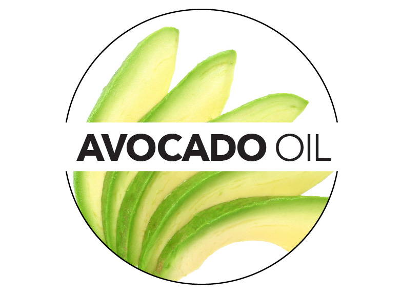 Avocado oil, rich in vitamins and minerals, helps to revive dry skin.