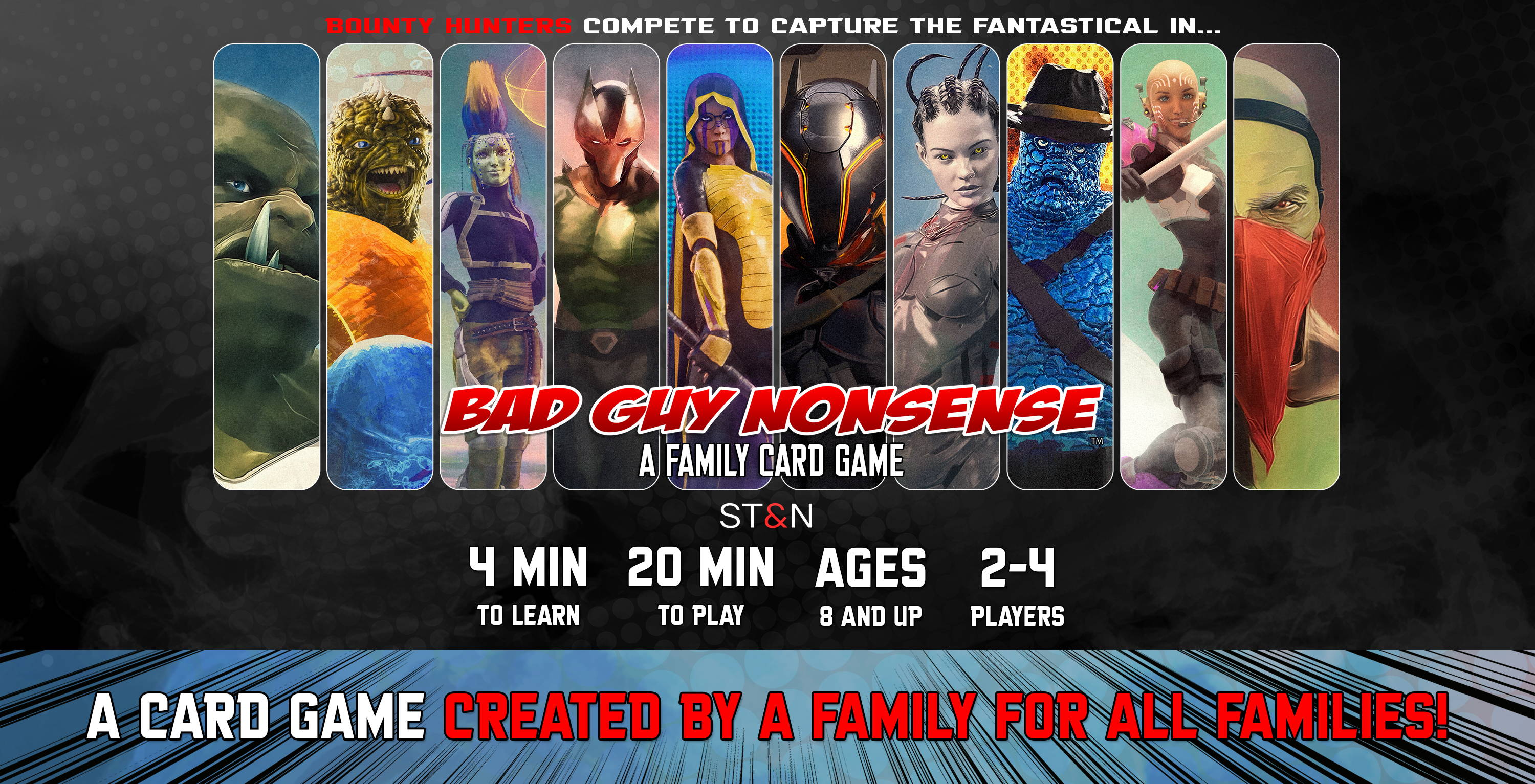Bad Guy Nonsense A Family Card Game ST&N simple tricks and nonsense