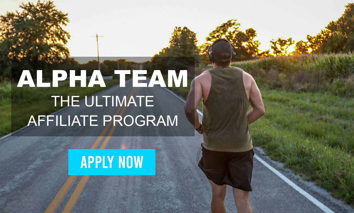 Alpha team affiliate program , man running