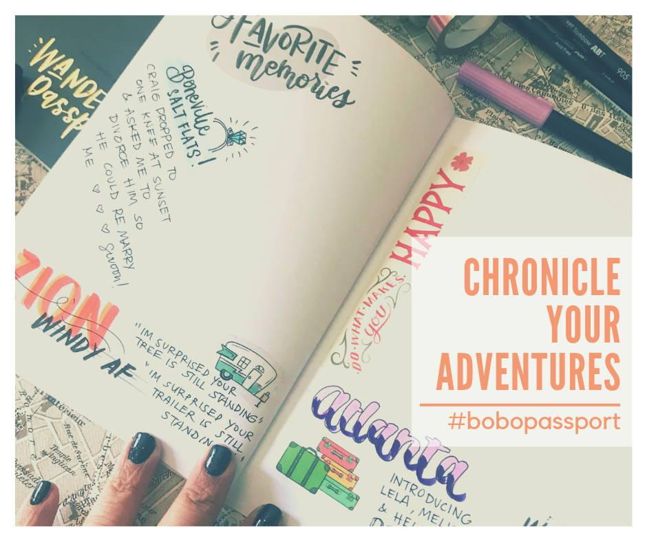 How to draw in your bobo design studio Wanderlust Passport