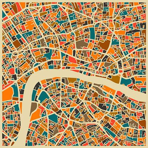 map art travel poster