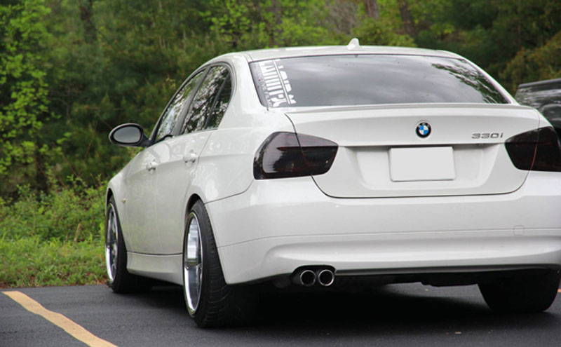 BMW with Charcoal Lamin-x tail light tint film covers