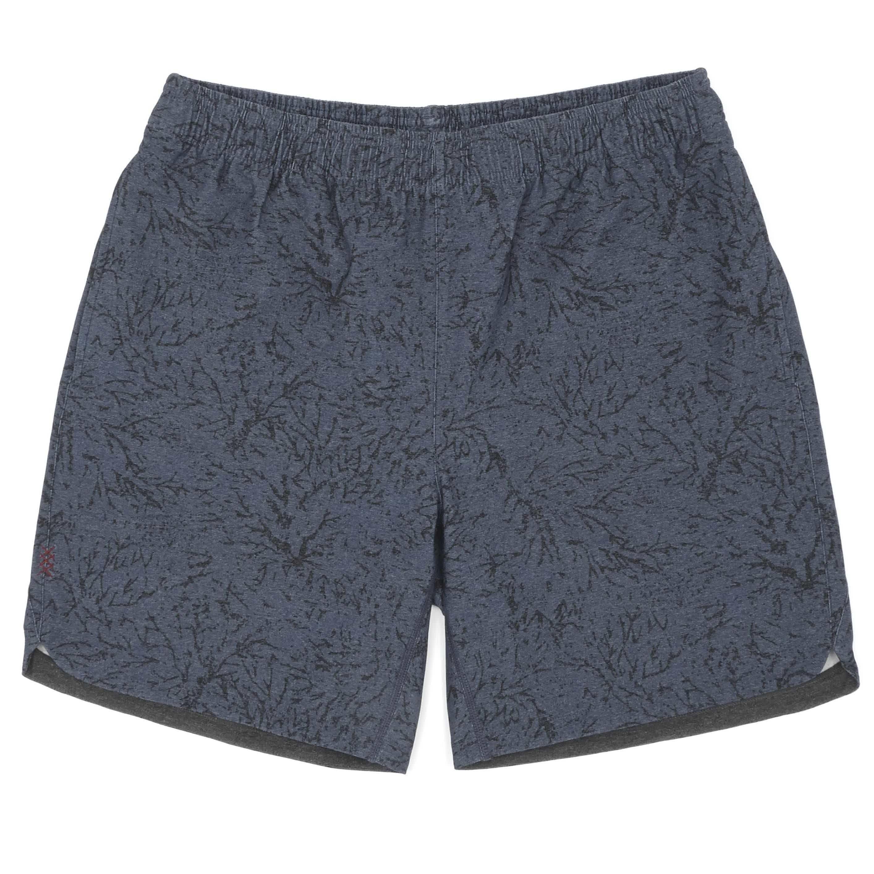 Black/Navy Print Guru Shorts