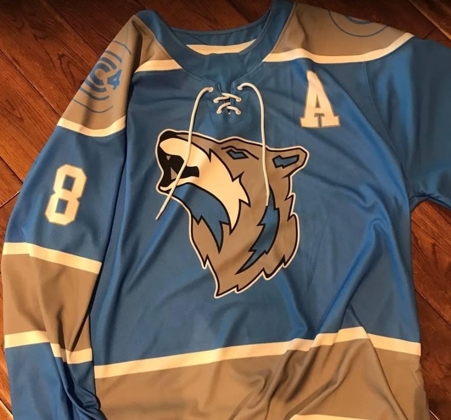 Custom Sublimated Ice Hockey Jersey: Sudbury Wolves Concept