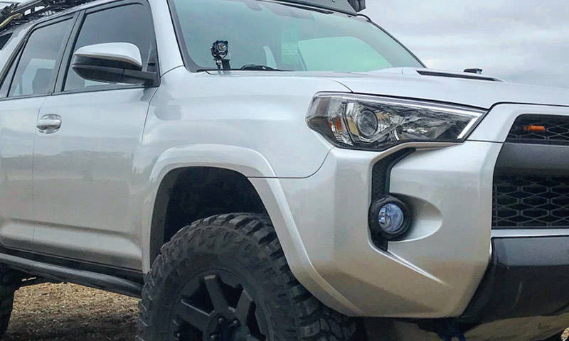 Toyota 4Runner Blue Lamin-x fog light film covers