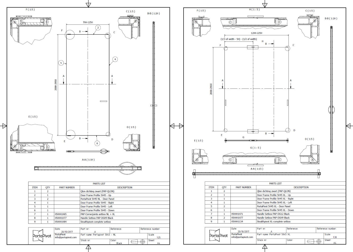 Portapivot 5045 technical files DWG DXF PDF
