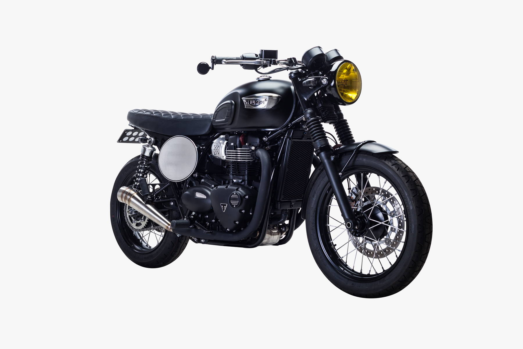 2017 Bonneville T100 Custom Retro Black British Customs