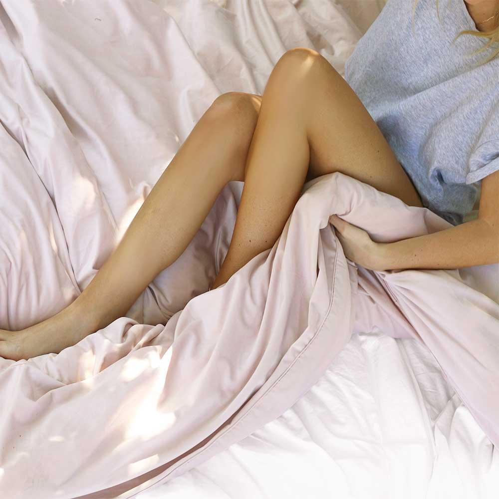 ZOE - Blush Velvet Quilt Cover - The Sheet Society