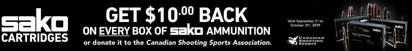 Sako Cartridge Rebates - $10 OFF EVERY BOX PURCHASED!