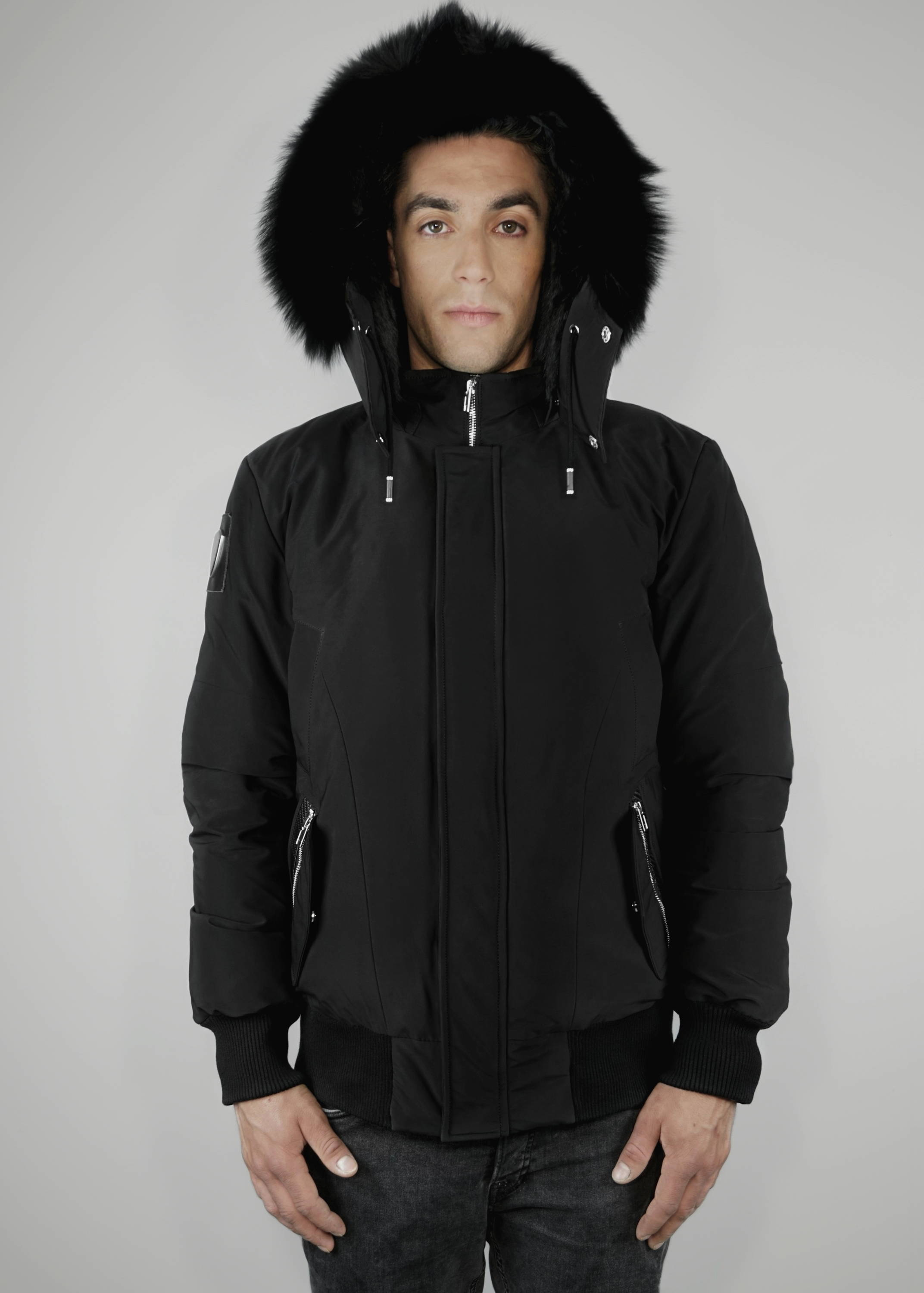 carbonesque mens signature obsidian bomber