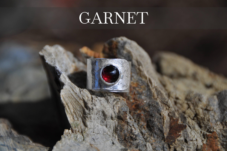 Garnet Wrap Ring