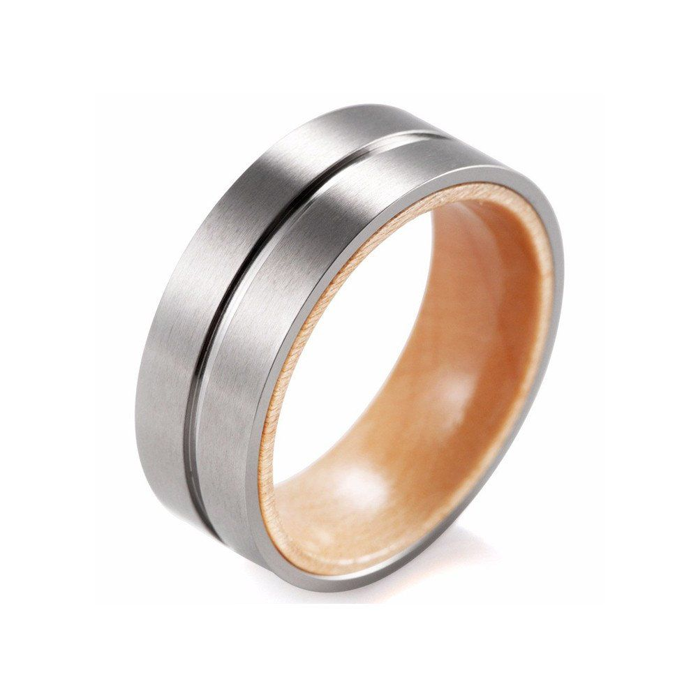 Titanium & Wood Ring - That Ring Shop