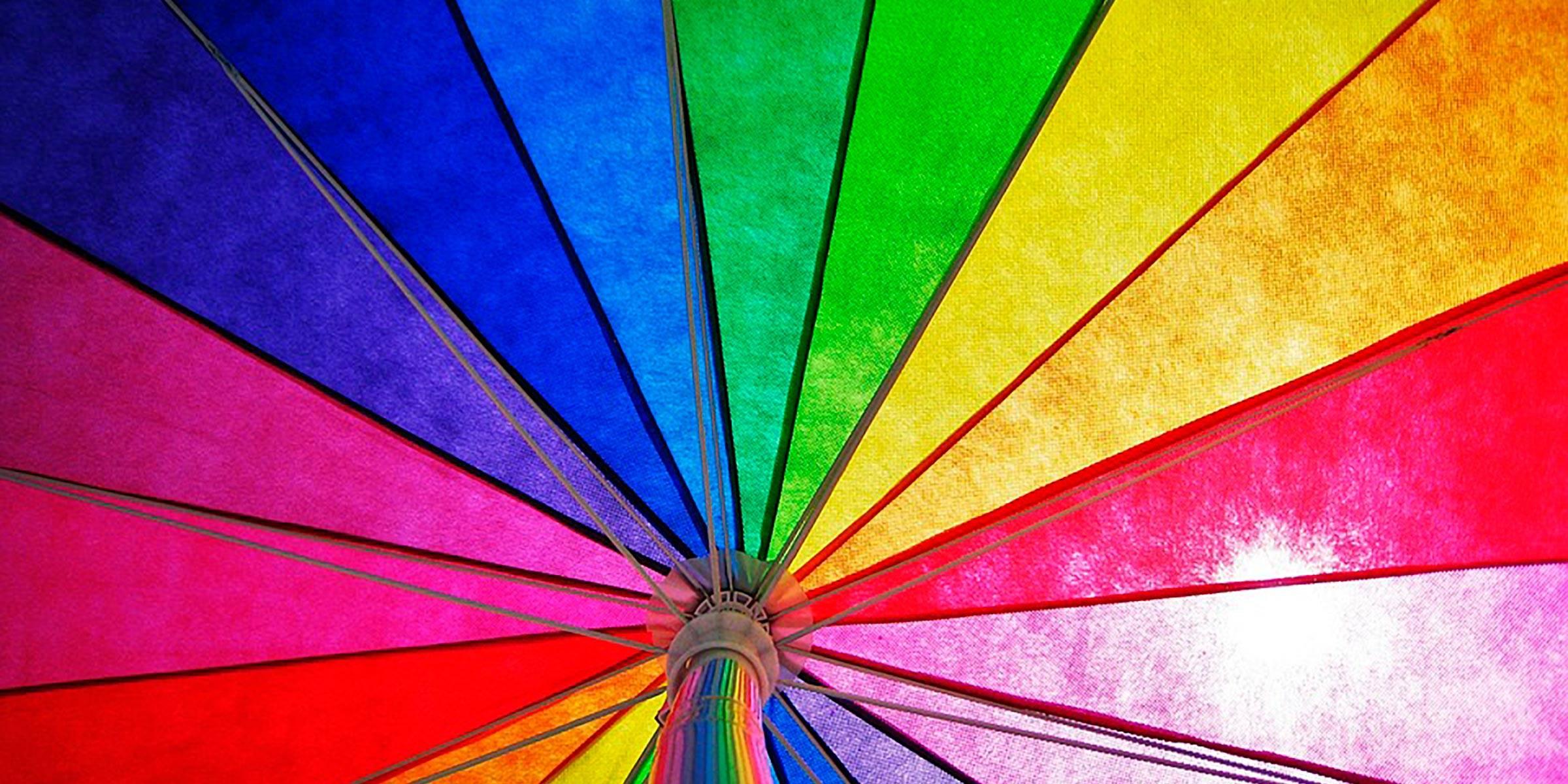 parasol med forskellige farver