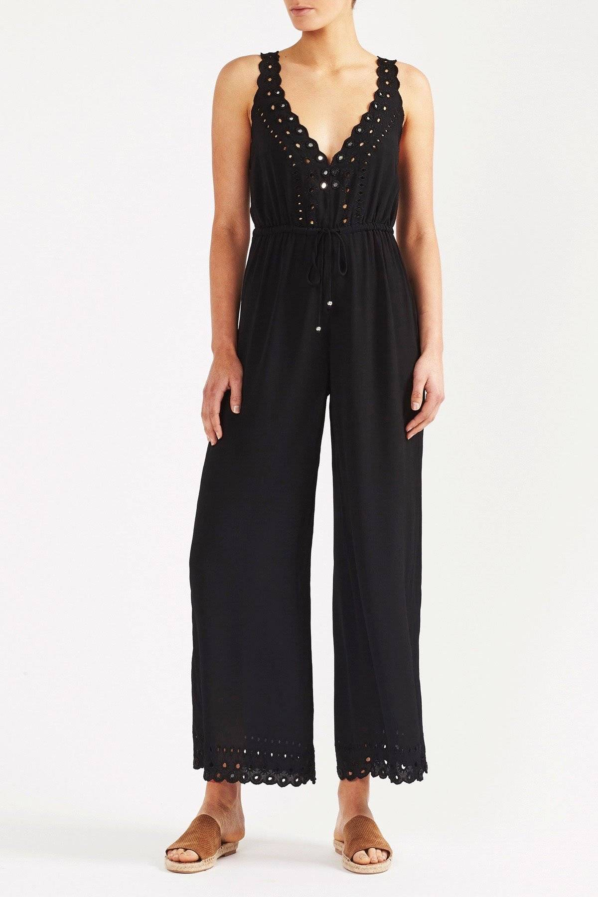Womens Damara Jumpsuit in Black by Tigerlily