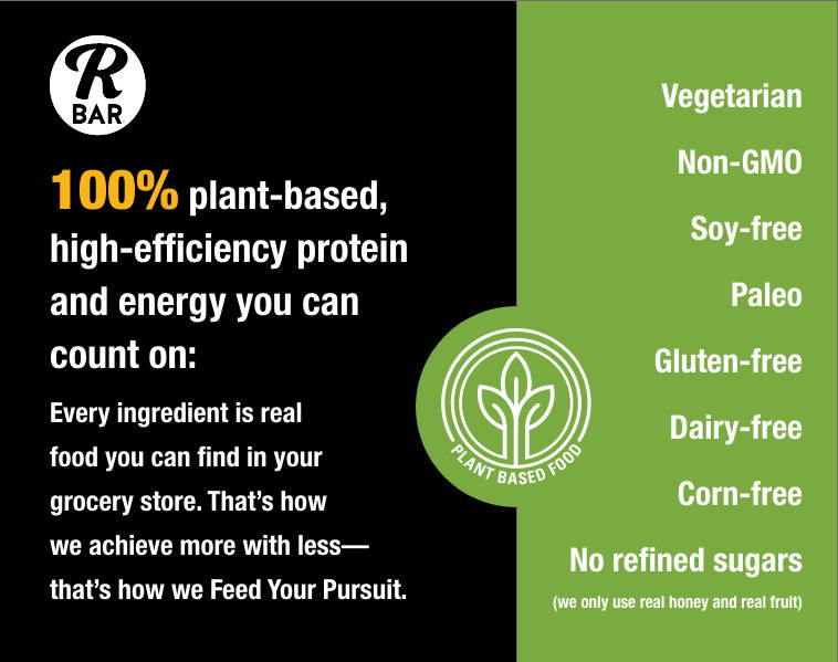 100% plant-based high-efficiency protein and energy you can count on.