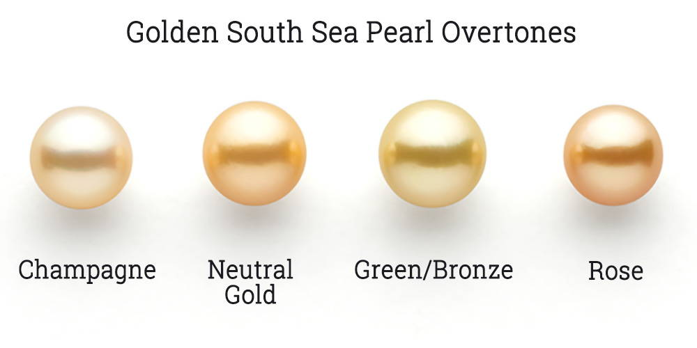 Golden South Sea pearl overtone options