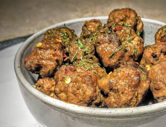 Ginger Kicken Meatballs