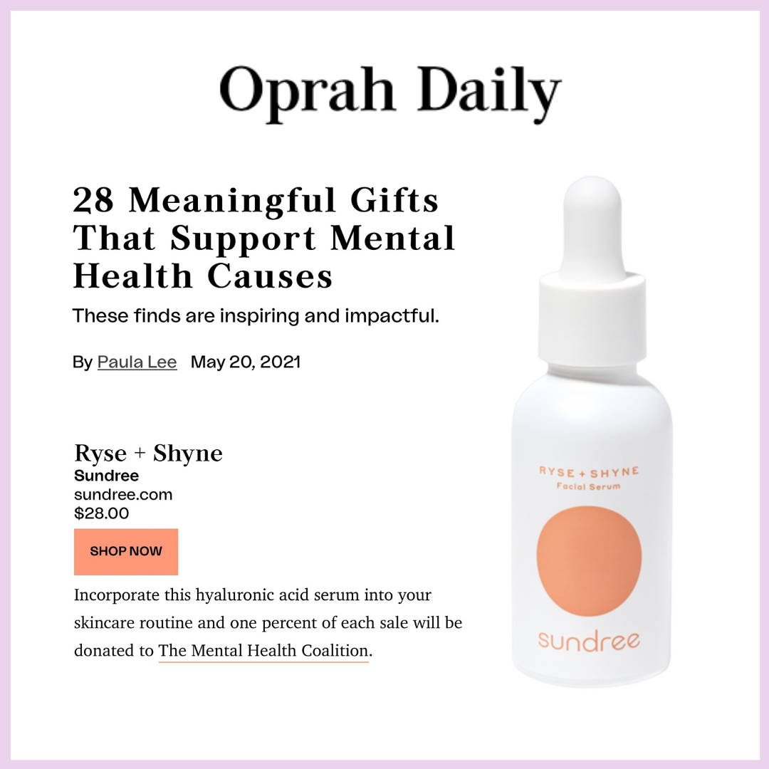 Oprah Daily Gifts Supporting Mental Health