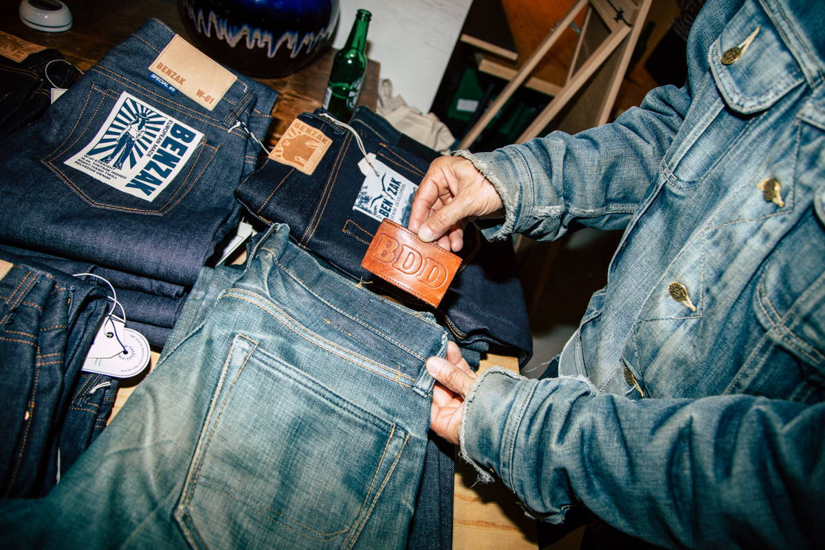 the swiss jeans freak and benzak denim developers faded japanese denim