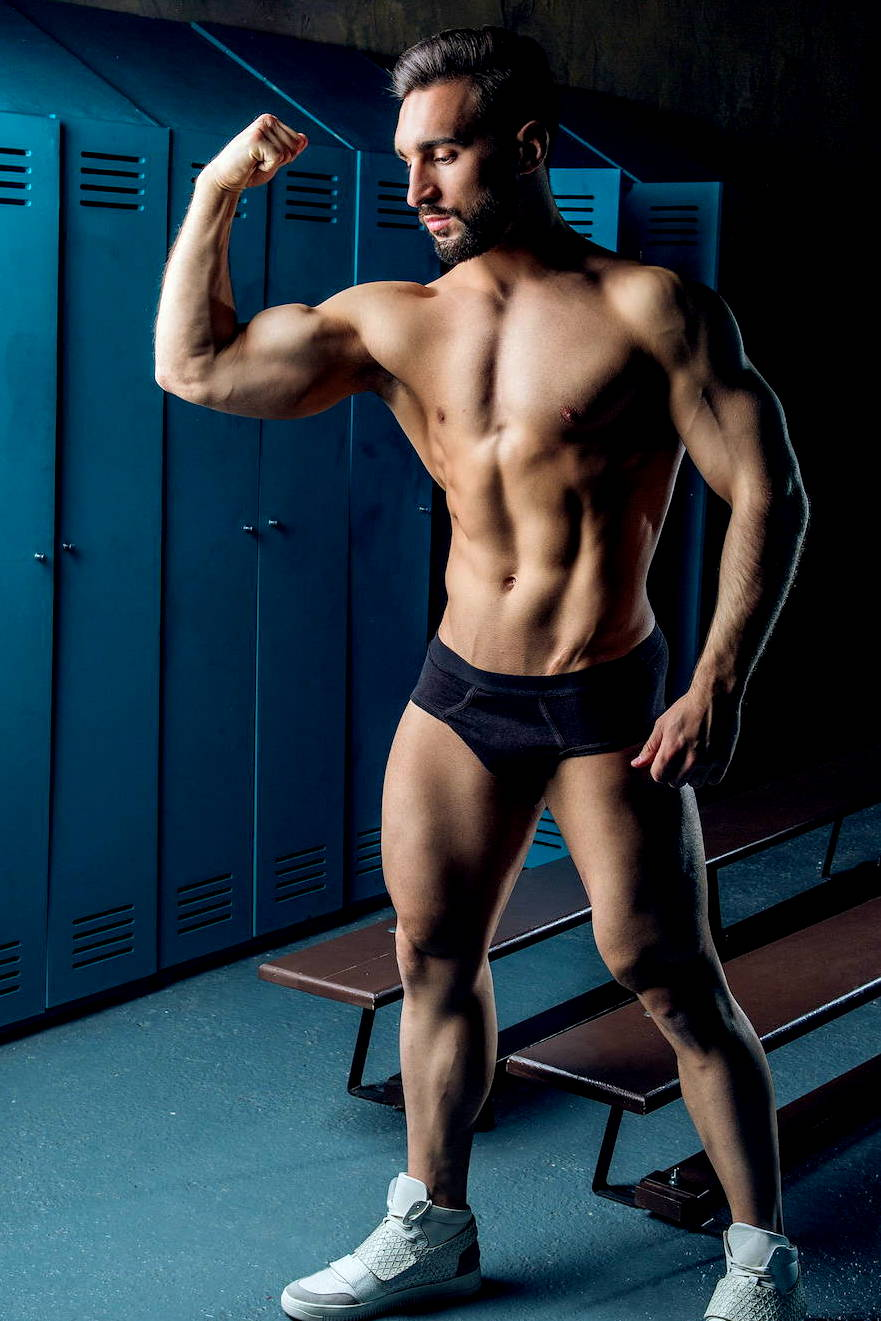 It's About The Man | 2020 Lets Get Physical | Male Model, Male Fitness Model, Man In Briefs, Man in Black Briefs