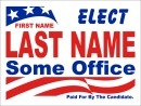 Political Campaign Sign Template #0041