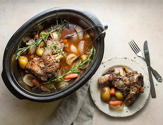 Slow Cooker Lamb Shank with DYP's