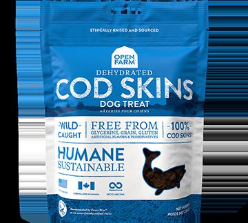 Dehydrated Cod Skins Treats