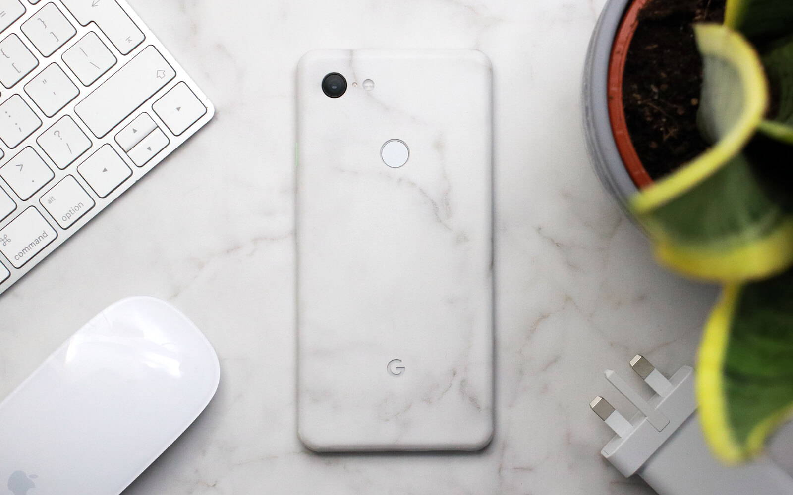 Google Pixel 3 XL White Marble Skins