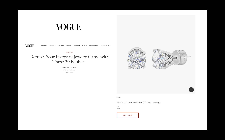 ZAXIE 3.5 Carat StuD Earrings On Vogue.com