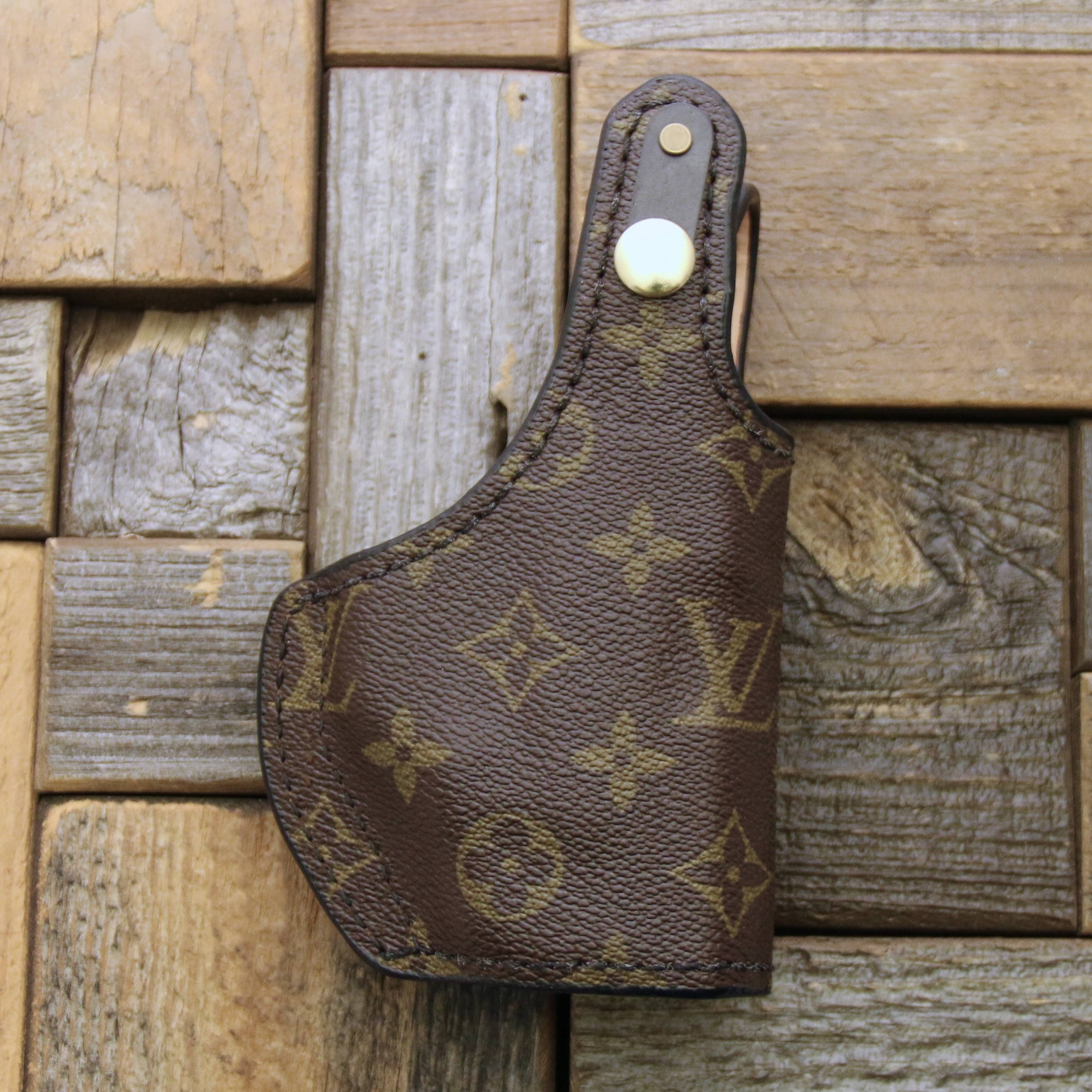 custom Louis Vuitton concealed holster for purse with thumb snap