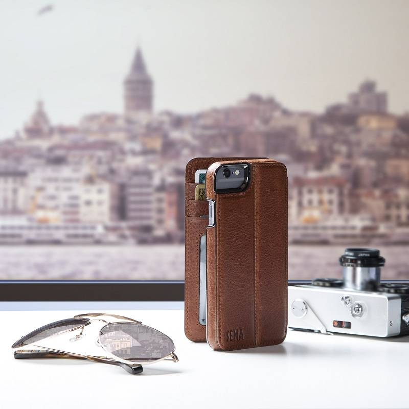 Leather Wallet Book Phone Case for Travel | Sena Cases