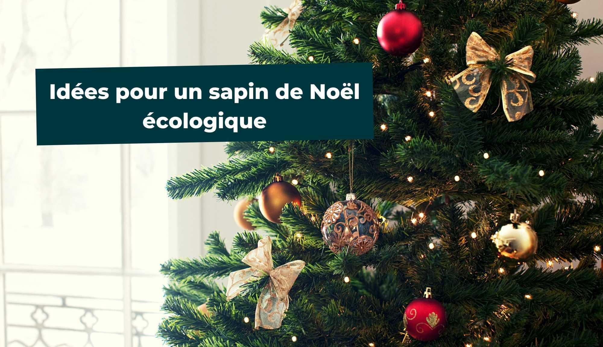Idées pour un sapin de Noël écologique