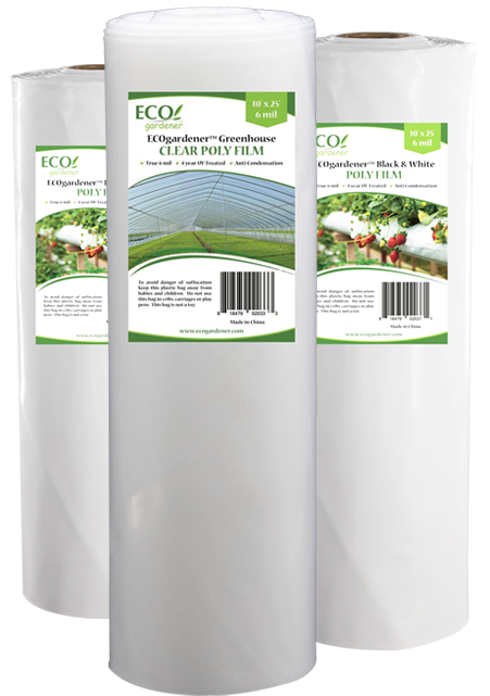 Ecogardener greenhouse clear poly film