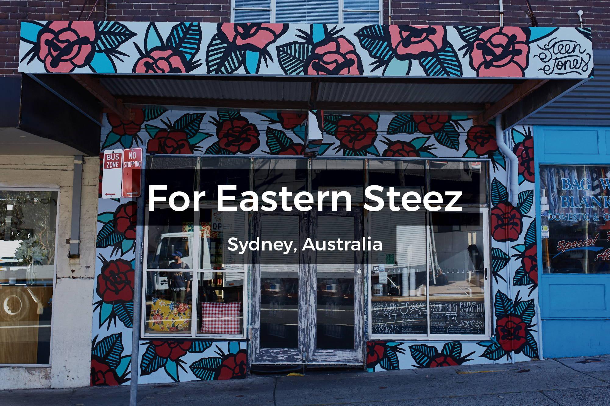 Eastern Steez mural in Sydney, Australia by Steen Jones