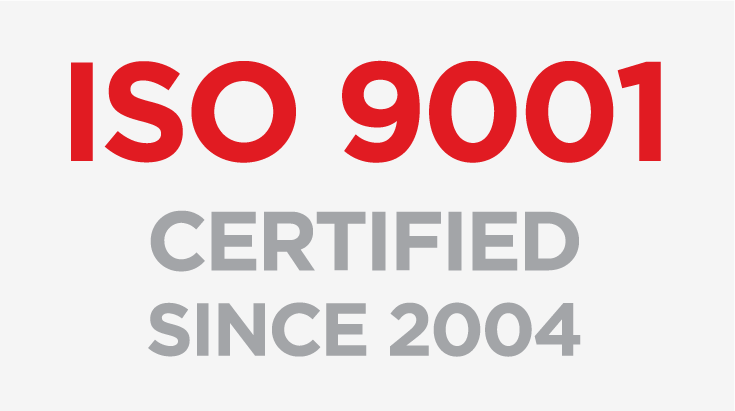 ISO 9001 Certified Since 2004