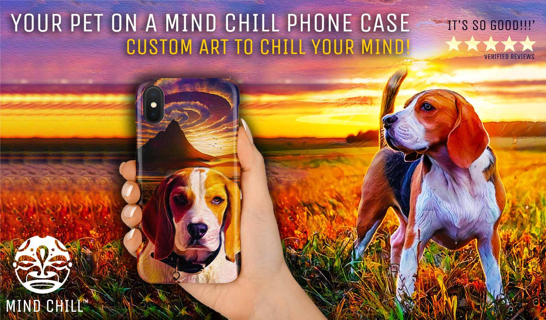 Mind Chill custom pet portrait phone cases