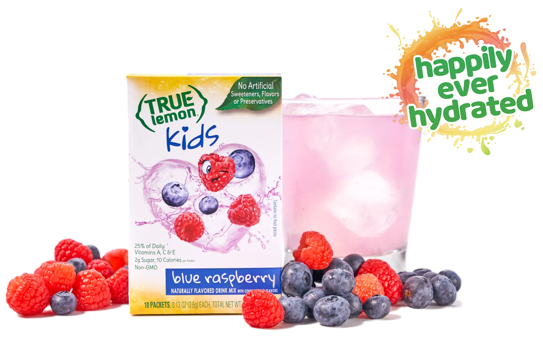 True Lemon Kids Blue Raspberry