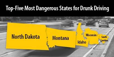 top five most dangerous states for drunk driving