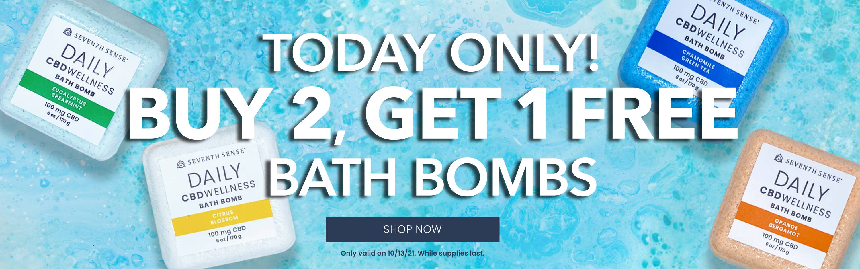 Today Only! Buy 2, Get 1 Free Bath Bombs