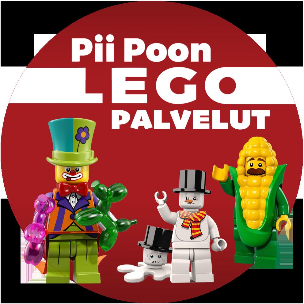 LEGO taikuri, maissintähkä ja muita LEGO-hahmoja