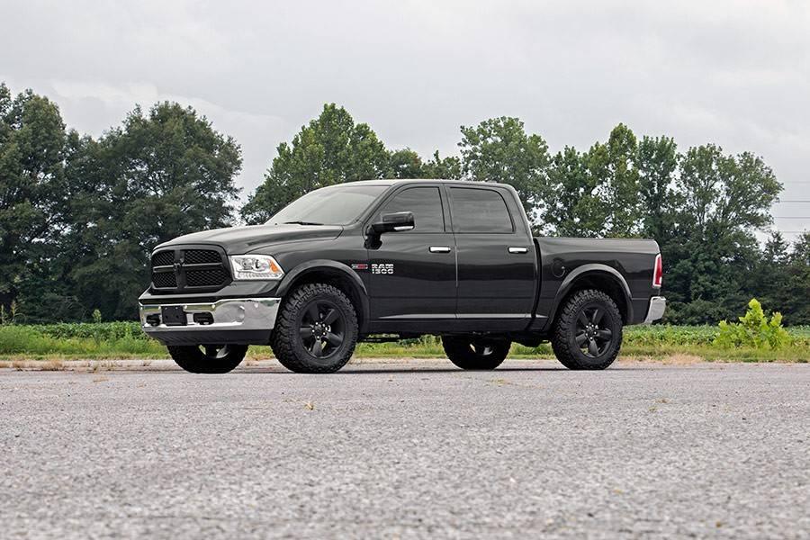 Black lifted dodge truck