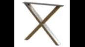 steel X table base