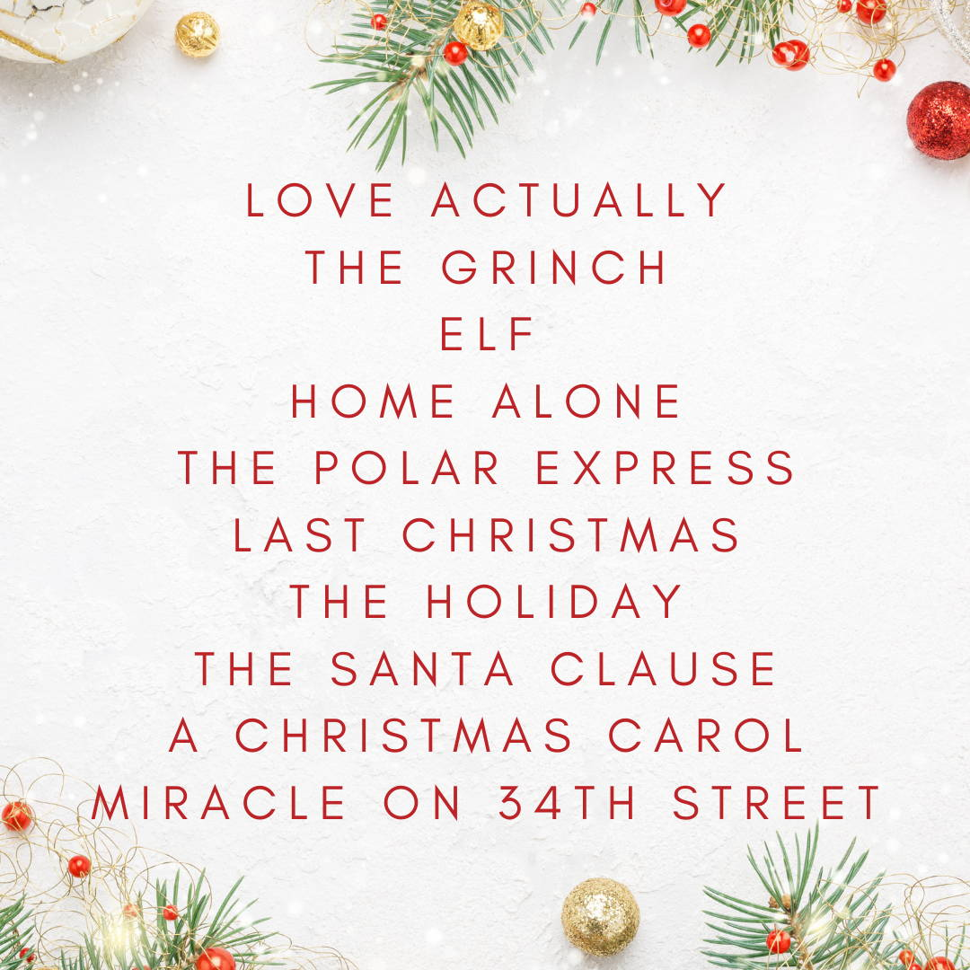 Christmas Movie Check List