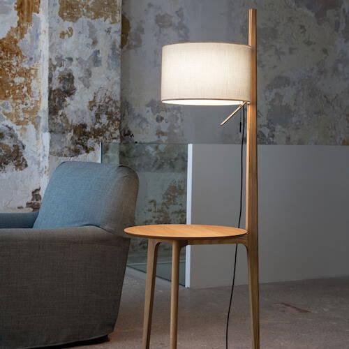 Carpyen Carla Floor Lamp With Table